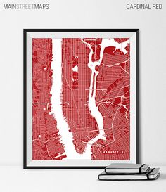Graduation Wedding Map Gift for Office Art for by MainStreetMaps