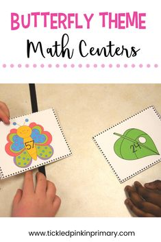 These Butterfly Theme Math Centers are a fun way to work on numbers and math skills in the spring. Number Sense Activities, Kindergarten Math Activities, Hungry Caterpillar Craft, Fairy Tales Unit, Butterfly Life Cycle, Spring Activities, First Grade Math, Math Skills