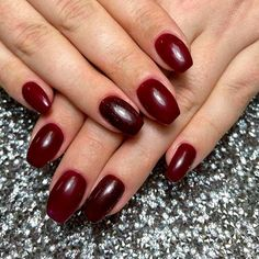 Burgundy Short Coffin Nails ❤ 30+ Outstanding Short Coffin Nails Design Ideas For All Tastes ❤ See more ideas on our blog!! #naildesignsjournal #nails #nailart #naildesigns #coffins #coffinnails #shortcoffinnails #coffinnailshapes