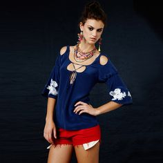 sexy peasant blouse ♥ ♥