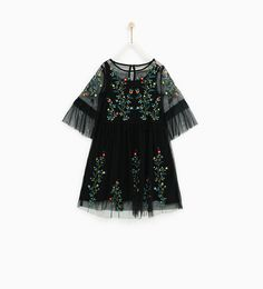ZARA - KIDS - EMBROIDERED FLOWERS TULLE DRESS
