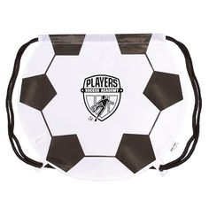 Promotional GameTime Soccer Drawstring Backpack | Advertising Drawstring Backpacks | Customized Drawstring Backpacks