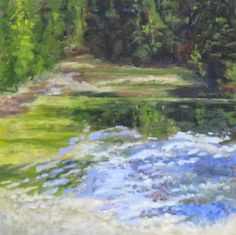 Whispering River, painting by artist Pam Holnback