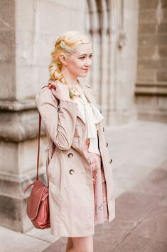 Beautiful blush pink outfit with platinum blonde hair // A Clothes Horse // Outfit: Spring Blush