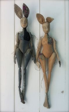 Constance and Fifi - The Pale Rook Art Dolls and Oddities