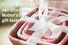 How to make your own easy, DIY Me-Time Mother's Day Gift Basket. (Hint, hint.)