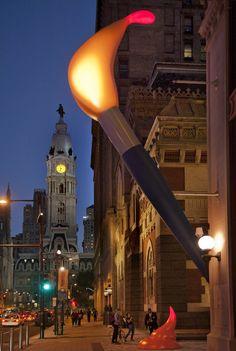 """Paint Torch"" by Claes Oldenburg, Philadelphia"