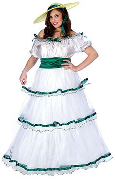 Plus Size Southern Belle Costume