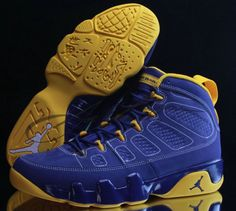 24947c0d8472 Where To Buy Original Youth Big Boys Air Jordan Air Jordan IX Boys Shoe Retro  Calvin Bailey Taupe Yellow Dark Royal Blue Wholesale