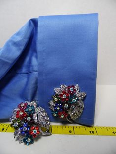 cufflinks big huge multi colored flowers Beautiful #carolslist