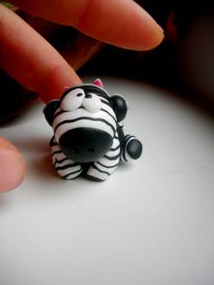 zebra fimo sculpey polymer clay