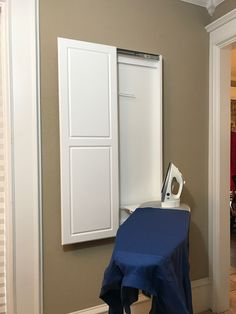 Hide Away Wall Mounted Ironing Board ~  Http://lanewstalk.com/simple And Functional Wall Mounted Ironing Board/ | Wall  Mounted Ironing Board | Pinterest ...