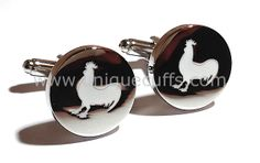 More custom enamel cufflinks we made for a special groomsmen gift. Groomsman Gifts, Different Shapes, Groomsmen, Initials, How To Memorize Things, Cufflinks, Enamel, Accessories, Vitreous Enamel