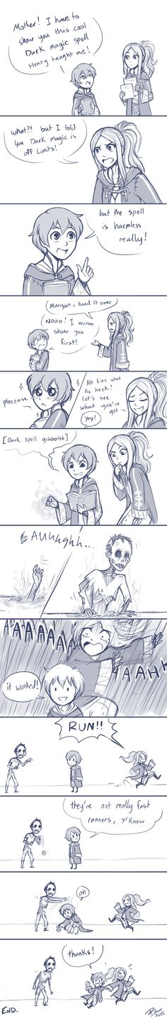 Dark magic is perfectly safe by firehorse6 on DeviantArt - I would do the same if Morgan gave me that look