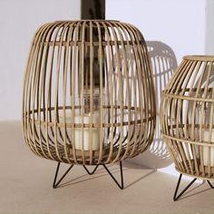 ♡Windlicht Hanne♡ - New Sites Indoor Rattan Furniture, Rattan Lamp, Cane Furniture, Laser Cut Lamps, Asian Interior, Bamboo House, Metal Lanterns, Home Design, Beach House Decor