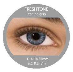 Non-Prescription Colored Contacts - Fresh Tone Sterling Gray