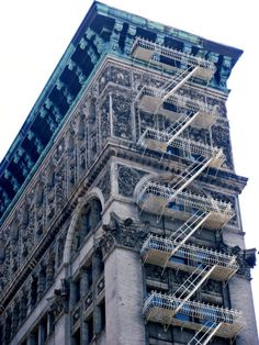 fire escape stairs on amazing lofts in Soho NYC