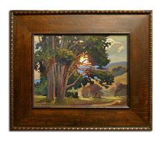 Jan Schmuckal Tonalist Impressionist Artist - A California landscape in an antique frame - Gallery: Vander Molen Fine Art
