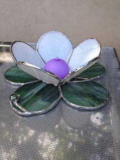 Stained Glass Flower 3D