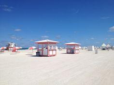 SLS Hotel South Beach in Miami Beach, FL. Custom design/build beach and pool deck equipment by CustomBeachHuts.com