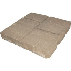 Shop Harvest Four-Cobble Patio Stone (Common: 16-in x 16-in; Actual: 15.7-in x 15.7-in) at Lowes.com