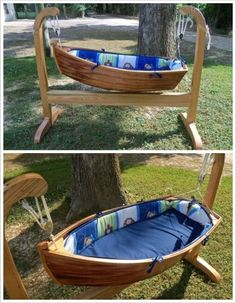How about this for baby's first cradle… | WoodworkerZ.com