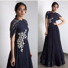 Post by Khan's Creation ( on gowns Indian Gowns, Indian Attire, Indian Wedding Outfits, Indian Outfits, Indian Clothes, Indian Designer Wear, Western Outfits, Dress Patterns, Gown Pattern