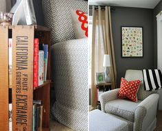 Repurpose a vintage wood crate into a side table - love!