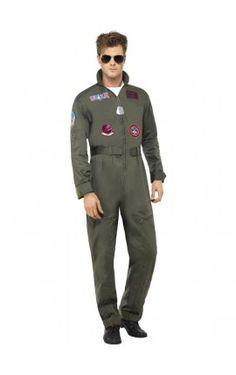 Disfraz de aviador Top Gun deluxe para hombre
