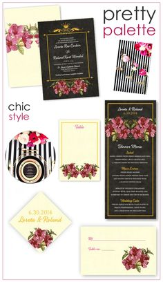 Pretty Palettes: Black, Fuchsia and Ivory