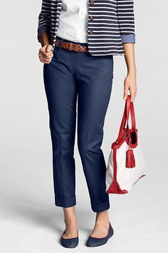 Women's Fit 1 Refined Stretch Ankle Pants from Lands' End