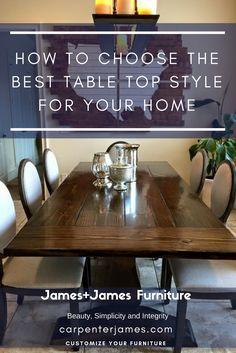 Handcrafted Solid Wood Furniture Built To Last. Solid Wood Table, Solid Wood Furniture, Custom Furniture, Square Tables, Round Tables, Furniture Inspiration, Design Inspiration, Dark Walnut Stain, Breakfast Nooks