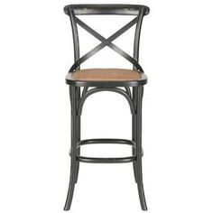 Safavieh American Home Hickory 30.7-In Bar Stool (27-In To 35-In) Amh9