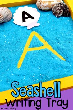 This Seashell Alphabet Writing Tray is a fun way for kids to practice letter formation and writing. This multi-sensory learning activity will stimulate their sense of sight and touch as they work on developing and strengthening their fine motor skills and other pre-writing skills. Click on the picture to learn how to create this writing activity for kids and get the free printable alphabet and sight word seashells! #letterrecognition #writingtray #letterwriting #preschool #prewritingskills