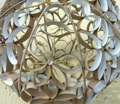diy project made out of paper rolls.plus a touch of gold paint/glitter on the insides maybe