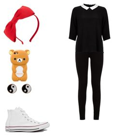 """""""Untitled #1015"""" by kayleytumblranons ❤ liked on Polyvore featuring 7 For All Mankind, Lipsy, Converse, Kate Spade and Monsoon"""