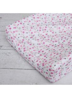 Caden Lane Baby Modern Vintage Pink Twiggy Changing Pad Cover