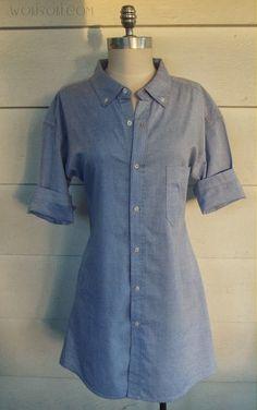DIY ChamBray Mens shirt dress