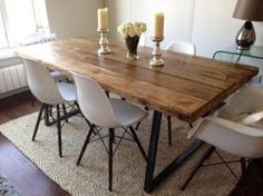 Bespoke 7ft Industrial Dining Table Set