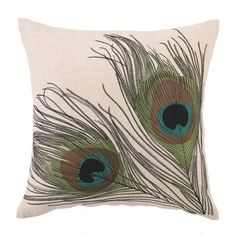 I pinned this Peacock Feather Pillow from the Peacock Collection event at Joss and Main!
