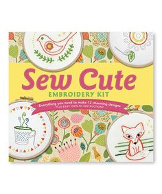 Sew Cute Embroidery Kit #zulily #zulilyfinds