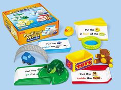 Positional Words Resource Box---gee, why didn't I think to SELL this (I have all sorts of these things gathered together, but not as cute)
