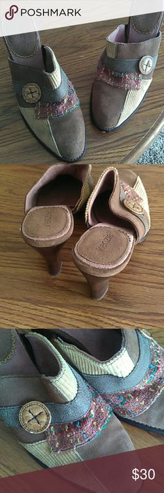 Unique Boho Heels Good condition. Size 9. Unique design kenzie Shoes Heels