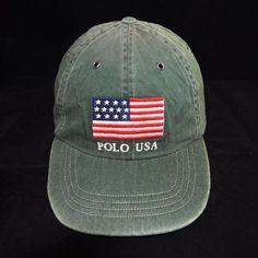 d7474b31079c1 Polo Ralph Lauren Classic USA Flag Hat in Green