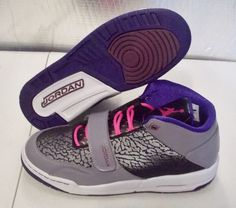 NEW NIKE AIR JORDAN FLIGHT CLUB RETRO Womens 8.5 (7Y) Limited Black Pink Purple #NikeJordan #Athletic