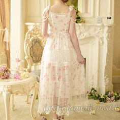 Lolita Kawaii Little Flowers Long Princess Dress LK16041110 - Thumbnail 1
