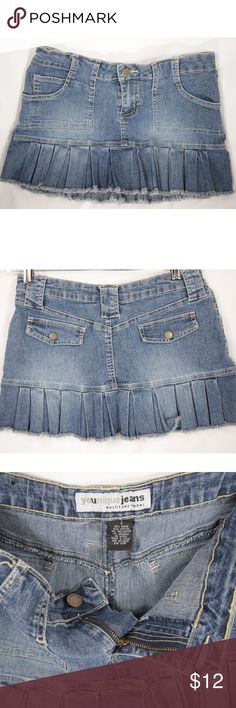 "Younique Stonewashed Jean Mini Skirt Size 7 Women's adorable stonewashed mini skirt. Gently worn with no flaws !! -Waist: 28"" - Length: 11 **We ship FAST! Usually within 1 business day! Thank you for Poshing in my Closet!! 😙 ✌️🌹 Younique Skirts Mini"