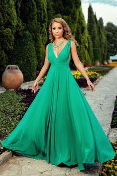 Rochie Catalyna Verde - Rochie de seara eleganta din lycra, perfecta pentru…