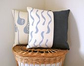 Screen Printed Eco Pillow Yellow by Cloth & Ink by ClothandINK. $46.00, via Etsy.