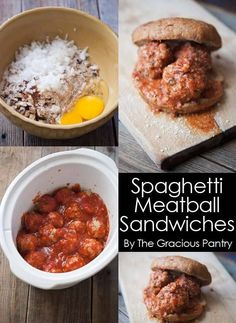 Slow Cooker Spaghetti Meatball Sandwiches   eBay #sponsored